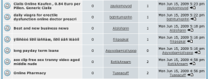Web forum overrun by spammers