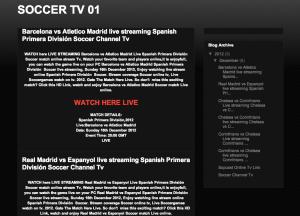 TV Streaming Spam