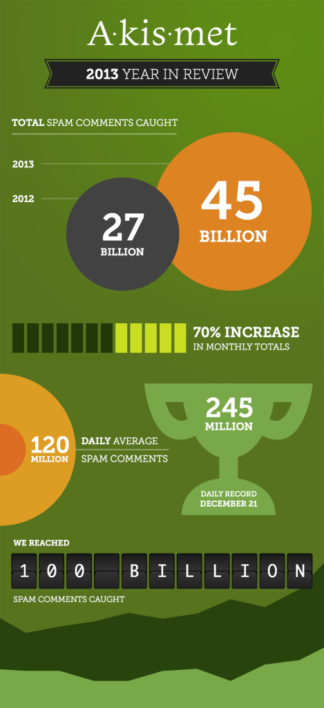 Akismet 2013 Year In Review Infographic