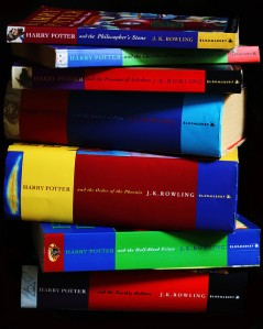Harry Potter stack of books